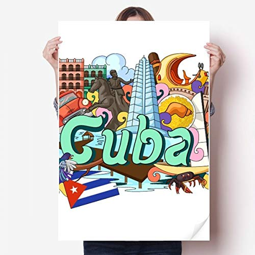 DIYthinker Guantanamo Trinidad Cuba Graffiti Vinyl Muursticker Poster Fotobehang Kamer Decal 80X55Cm