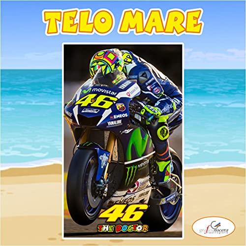 Asciugamano Telo Mare Valentino Rossi 46 idolo idea regalo estate (160cm X 200cm)