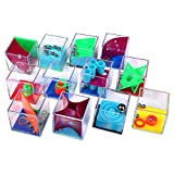 Schramm® 12 Stück Geduldsspiele Mini Denkspiel Knobelspiel für Kinder Geduld Spiel Mitgebsel...