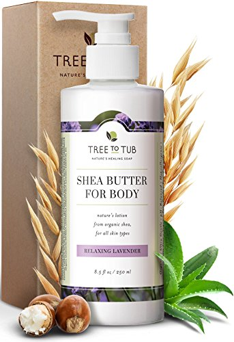 professional Tree-to-tab moisturizing body lotion for dry skin – balanced pH 5.5 lavender for sensitive skin…