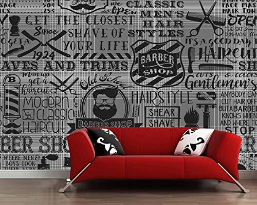 Sucsaistat Papel Tapiz de peluquería Pared Elementos de peluquería sofá Papel Tapiz de la Sala Papel de Parede, 200 * 140 cm