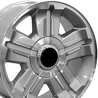 OE Wheels 18 Inch Fits Chevy Silverado Tahoe GMC Sierra Yukon Cadillac Escalade CV88 Silver Mach'd 18x8 Rim Hollander 5300