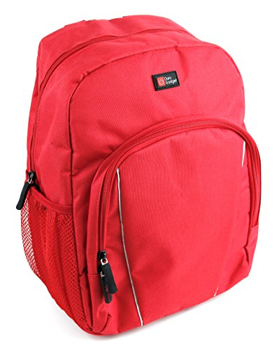 DURAGADGET Water-Resistant Bright Red Compact Backpack with Rain Cover - Compatible with the Xoro BD1000 10.1' | HBD 1000 | HSD 7560 | HSD 7790