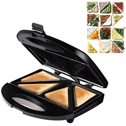 OOFAT Plancha Electrica Profesional, Sandwich Tostadora, 6-En-1 Prensa para Panini Grill Y...