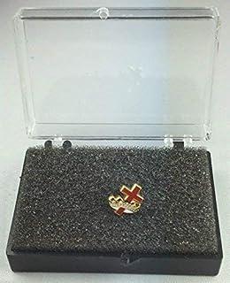 Templari Massonici Croce & Corona Distintivo Spilla Smaltata In Confezione Regalo