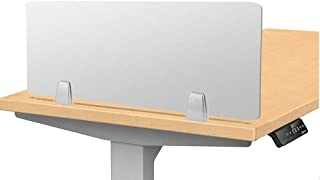 """Owfeel 23"""" L×12"""" W Frosted Desk Privacy Divider, Office Divider Partition, Desk Separator Panel for Student Call Centers, Offices, Libraries, Classrooms Acrylic Clamp (Not Include Clip)"""