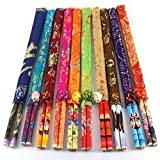 PULABO20 10 pares de palillos de tela set pequeño regalo de seda hola palillos enviar extranjeros suministros de boda ir al extranjero regalos