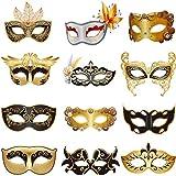 Set de 12 Máscaras Venecianas Mecánicas Máscara de Mascarada de Mardi Gras para Carnaval Baile de Graduación Máscaras Steampunk Retro, para Fiesta de Disfraz de Mardi Gras Ópera Halloween
