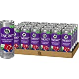 V8 +Energy, Healthy Energy Drink, Natural Energy from Tea, Pomegranate Blueberry, 8 Fl Oz Can, 24 Count (Pack of 1)