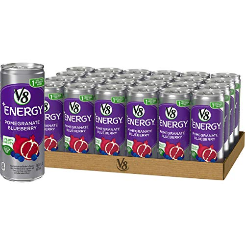 V8 Energy Healthy Energy Drink Natural Energy from Tea Pomegranate Blueberry 8 Ounce Can Pack of 24
