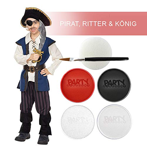 PARTY DISCOUNT Schmink-Set Pirat / Ritter / König