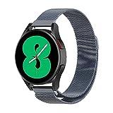 Correa Compatible con Galaxy Watch 4 40mm/44mm,Galaxy Watch 4 Classic 42mm/46mm,Galaxy Watch 3 41mm,Galaxy Watch Active/Active 2,Galaxy Gear Sport,Galaxy Gear S2 Classic,Correa Acero Inoxidable 20MM