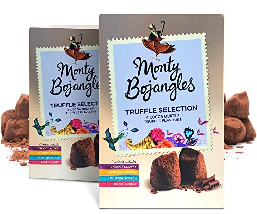 Monty Bojangles Taste Adventures Kakao bestäubtes Pralinen Sortiment, 2 x 200g Schatz Geschenkboxen