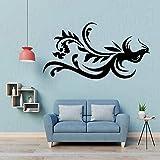 Etiqueta engomada de la pared del pájaro de la foto casera negra decoración del hogar del artista de la pared del hogar del estilo de la pasta