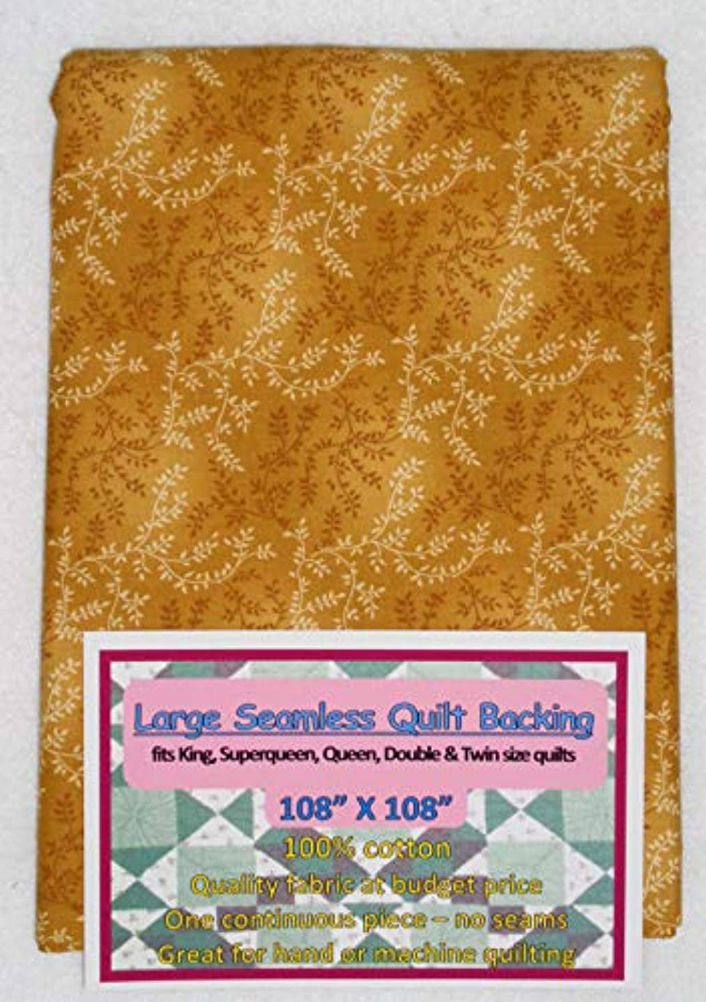 Quilt Backing, Large, Seamless, C47603-500, Gold