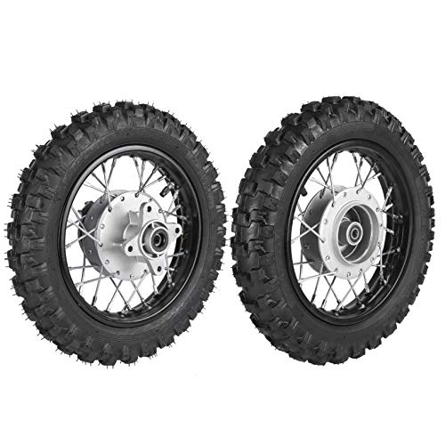 ZXTDR 2.5-10 10' Front & Rear Wheels Tires and Rims 1.4 x 10 With Bearing for 50cc CRF50 XR50 Dirt Pit Bike