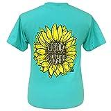 Girlie Girl Originals Create Your Own Sunshine Scuba Blue Short Sleeve T-Shirt (Small)