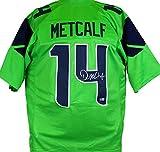 DK Metcalf Autographed Green Pro Style Jersey-Beckett W Hologram Silver