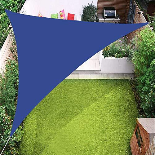 PENGMAI Toldo triangular con cuerdas de fijación, protección solar, protección contra el viento, impermeable, protección UV para jardín, balcón, exterior, terraza, camping