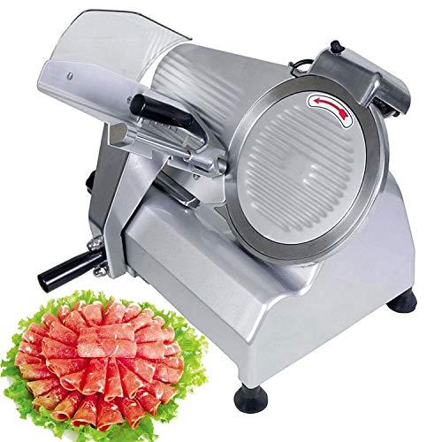 KITGARN Kötthyvel elektrisk matskärare kommersiell deli-skivare 240 W hotpot nötkött flisor skärmaskin 10 tums blad slitstark för kötthackare slaktare skärare