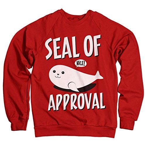 Seal Of Approval Offizielles Lizenzprodukt Sweatshirt (Rot) X-Large