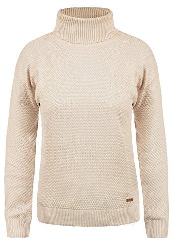 DESIRES Sina Damen Rollkragenpullover Waffelstrick Pullover Mit Rollkragen Aus 100% Baumwolle, Größe:L, Farbe:Sandshell (0265)