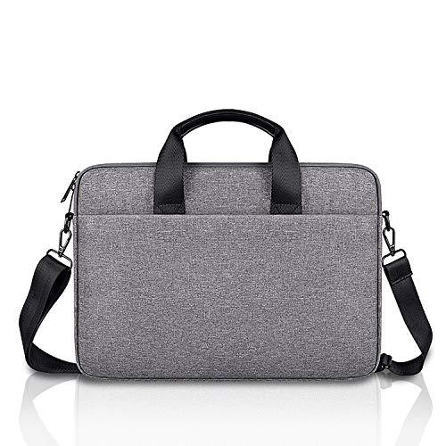 E.YOMOQGG 14 inch Laptop Case Laptop Shoulder Bag, Laptop Sleeve Carrying Case with Shoulder Straps & Handle, Multi-functional Notebook Briefcase 14' inch for Men & Women (Grey)