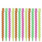 DEDC 60pcs Rodillo de Plástico en Espiral para Cabello Permanente Rod en Espiral Peluquería para Pelo Varillas Espirales Permanentes con Clips de Anillo Herramientas de Salón para Mujeres Niñas