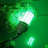 Aufee Luz de Pesca Nocturna LED, luz del buscador de Peces, lámpara Sumergible submarina para Barcos Marinos, Accesorio de Pesca Lámpara Verde con Cable(5050-108 Cuentas de LED)