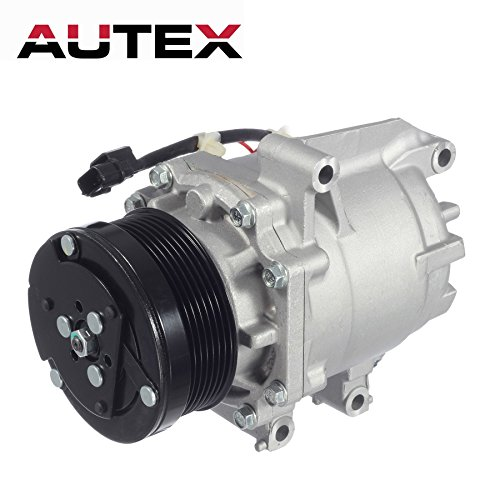 AUTEX AC Compressor & A/C Clutch C1804 C1804R C2468R 0610225 TEM275739 275739 2004918AM TEM255528 38810RNAA02 38810RRBA01 1102577 1102608 Replacement for Honda Civic 2006 2007 2008 2009 2010 2011 1.8L