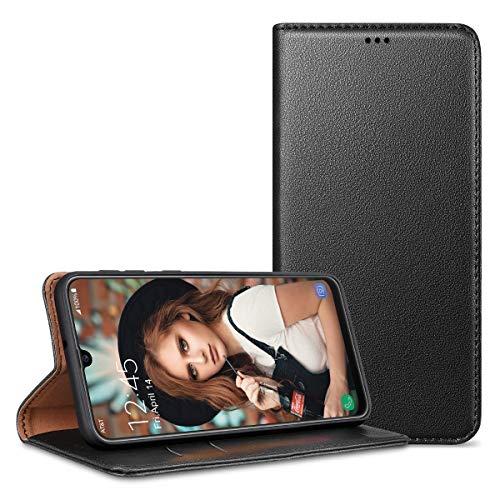 CE-Link Handyhülle für Samsung Galaxy M30s Hülle Leder Premium PU Flip Hülle Wallet Schutzhülle Lederhülle Klapphülle Magnetisch Silikon Bumper für Samsung Galaxy M30s Hülle Tasche - Schwarz