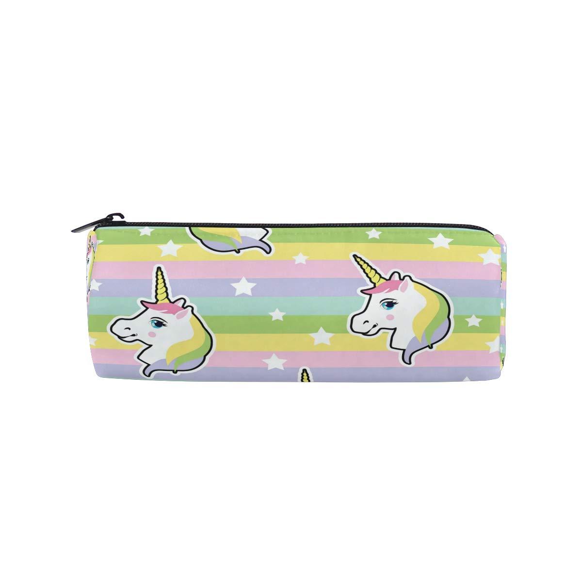 Bonie - Estuche colorido con diseño de unicornio hipster de arcoíris, estuche para lápices, estuche escolar para artículos de papelería, estuche para cosméticos con cremallera: Amazon.es: Oficina y papelería