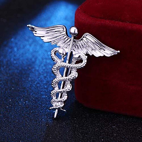 JJLESUN Broches de alas Broche de Insignia para Hombre Broches de Serpiente Medalla de Solapa Cuello de Camisa para Mujer Ropa y Accesorios