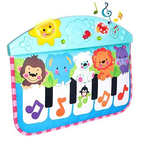 WFZ17 Juguete de piano para niños, animal bebé música Mat piano teclado alfombra manta educación temprana