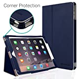 New iPad 2018/2017 9.7 inch Case, CaseCrown Bold Standby Pro Case (Blue) Multi-Angle Viewing Stand