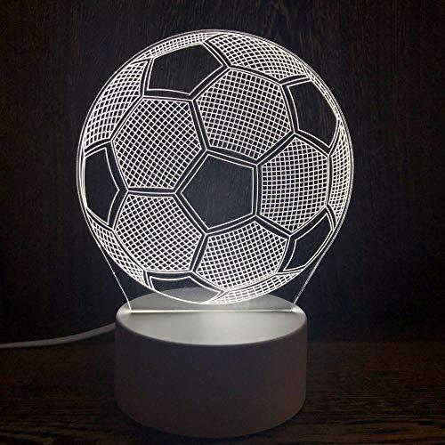 Baby 3D Bewegungsmelder Steuerung Nachtlicht Nachtlicht Atmosphäre Aufladen Baby3D Nachtlicht Geschenk Licht Mode Cartoon Fußball Nachttischlampe Stall Nachtlicht