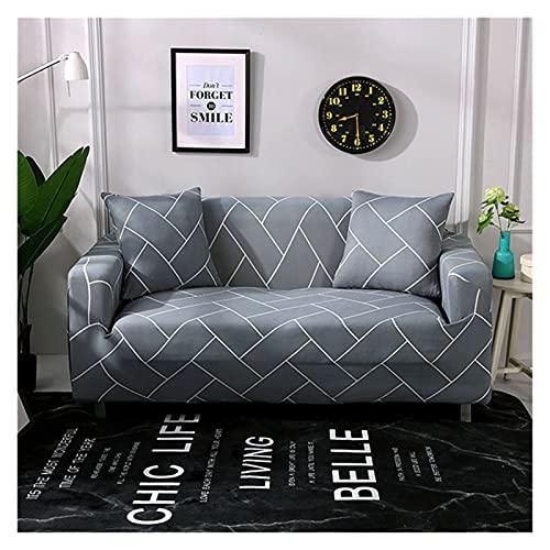 QYSM Funda de sofá elástica moderna para sala de estar envuelta con todo incluido, funda de protección para muebles de jacquard (color: 4, tamaño: 4 plazas, 235-300 cm)