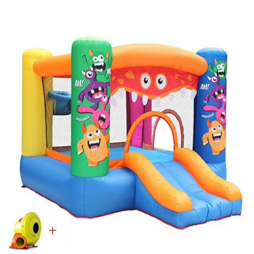 LYYAN Professional Small Bouncy Castle Inflatable Activity Play Center House Jumper Water Slide Combo? Garden for Outdoor Indoor for Kids Oxford Cloth Material 295 * 270 * 195cm Enjoy