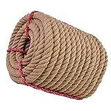 RPOLY Cuerda de Yute Natural, SOGA Fuerte de Yute Yute Twine para la náutica, paisajismo, Baranda, Hamaca, de 35 mm de decoración de hogares,Brown_10M