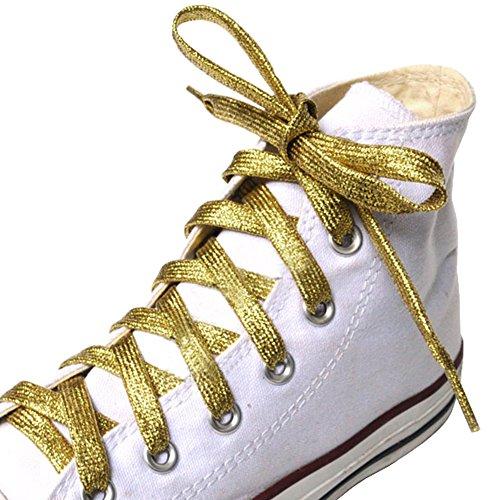 Black Temptation Schnürsenkel für Sneakers & Casual Schnürsenkel Diverse Schuhstring # Golden