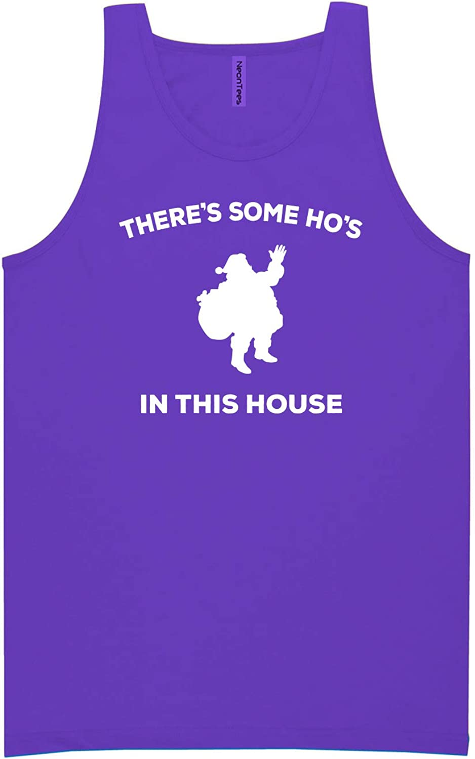 There's Some Ho's in This House Neon Purple Tank Top - XX-Large