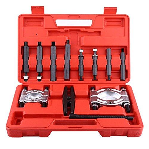 Extractor de rodamiento 12 piezas Separador de rodamiento Extractor de engranajes Separador de rueda volante Conjunto con martillo deslizante Kit de herramientas de molde de soplado