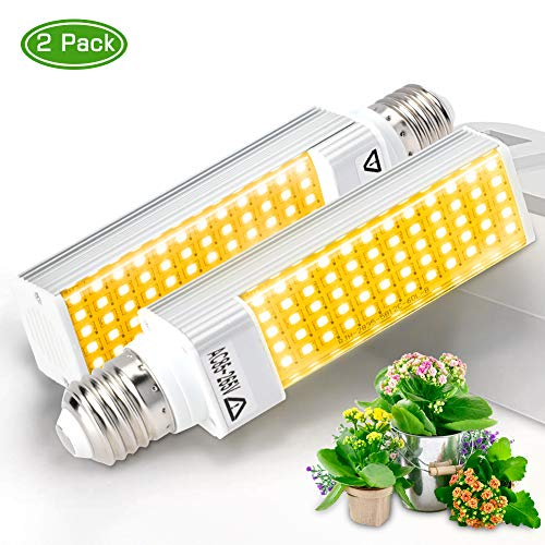 Haofy Pflanzenlampe E27 Vollspektrum Pflanzenlicht, LED Wachstumslampe Full Spectrum Leuchtmittel Glühbirne, Ersatzlampen für Zimmerpflanzen, Hydroponik, Gewächshaus(2Pack)
