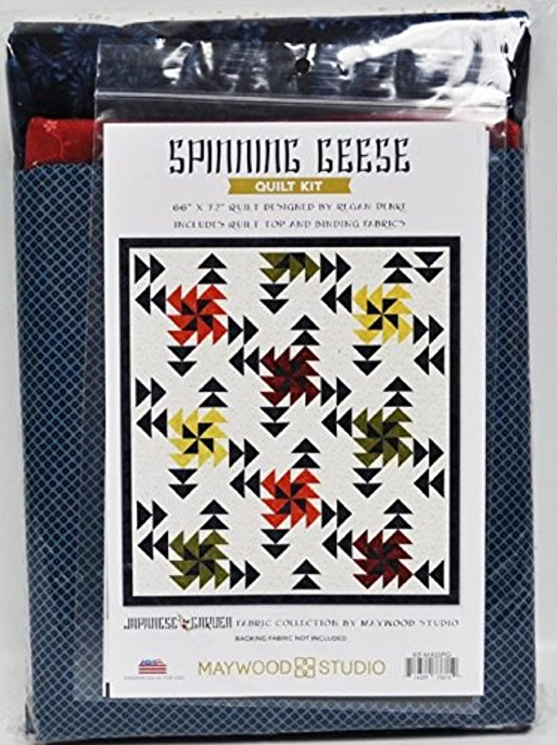 Japanese Garden Spinning Geese Quilt Kit Maywood Studio