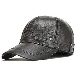 Toddliレザー キャップ 帽子 野球帽 羊皮 本革 ユニセックス メンズ レディース アウトドア スポーツ 紫外線 対策 シンプル カジュアル スタイリッシュ