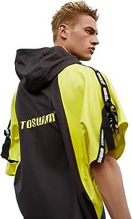 TOSWIM Microfiber Towel Swim Robe Poncho towelTowel Poncho Yellow with Black - Gym Towel & Workout Towel, for Travel, Gym, Yoga, Sports, Swim, Camping, Pool, Swim, Beach …