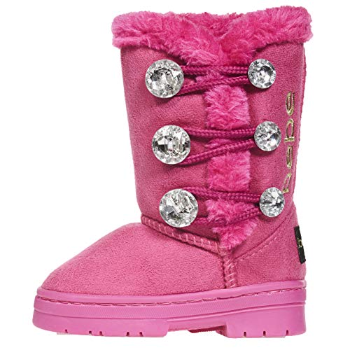 The Doll Maker Metallic Gold Sequins Snow Boot - FBA1641707-2