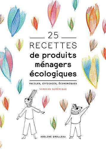 25 recettes de produits ménagers écologiques: Faciles, efficaces, économiques