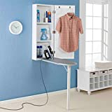 Upton Home Space-saving Wall-mounted White Finished Ironing Board and Storage Center (42 Inches High...