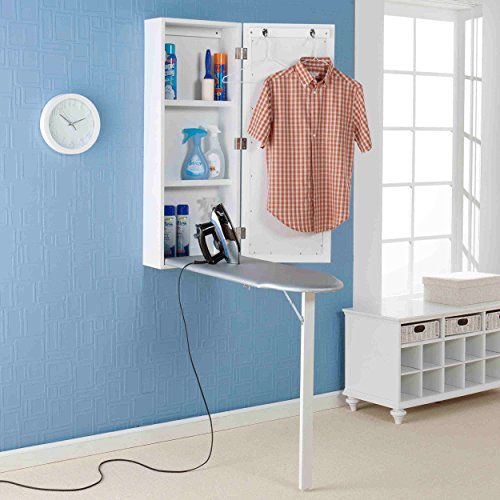 Upton Home Space-saving Wall-mounted White Finished Ironing Board